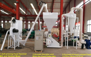 stationary vertical feed mixer