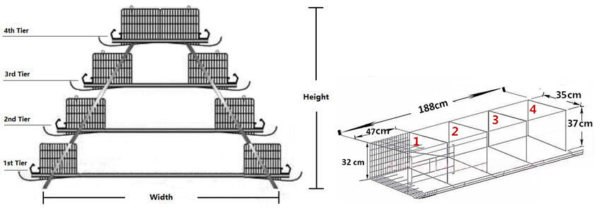 layer cage battery cage system drawing design