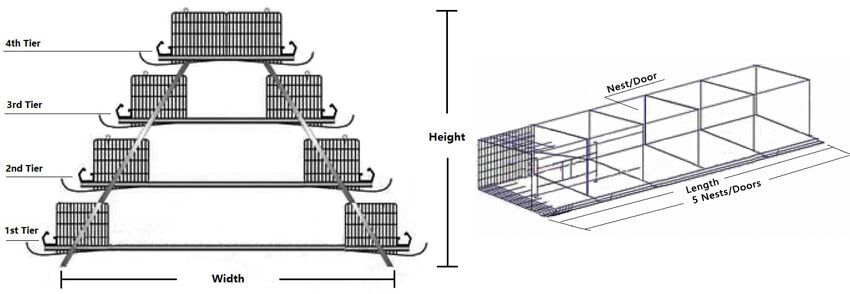 layer cage battery cage drawing design