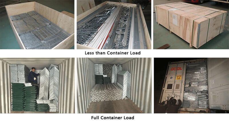 Example of poultry cage that contains less than container load