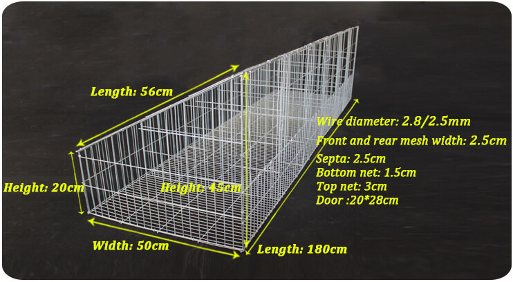 rabbit cage size